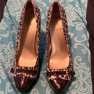 Qupid Size 11 Cheetah Print 4 inch heels